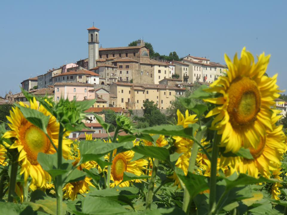 Nearby town of Monterchi