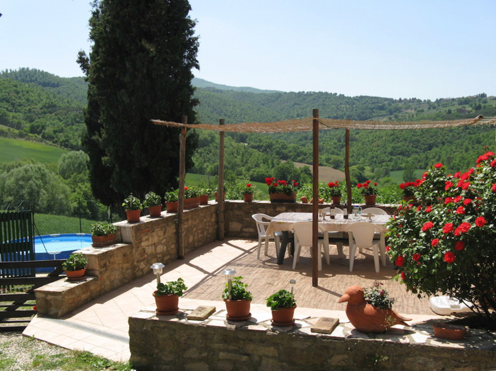 Large sunny terrace where you can eat al fresco, relax and enjoy the wonderful views