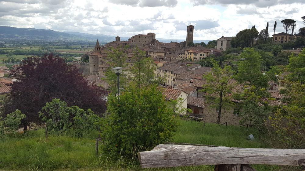 The fantastic walled town of mediaeval Anghiari