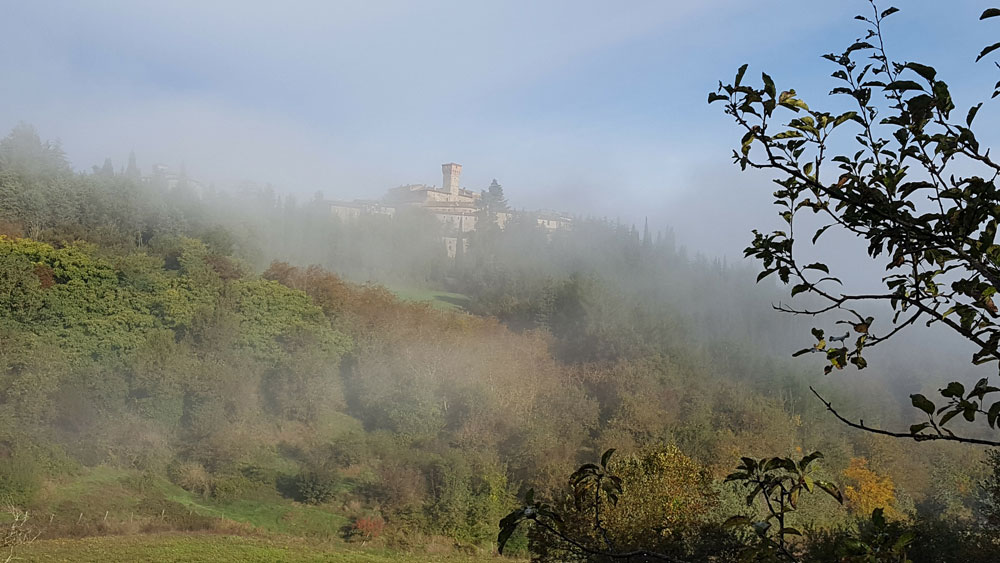 The local village of Lippiano waking up