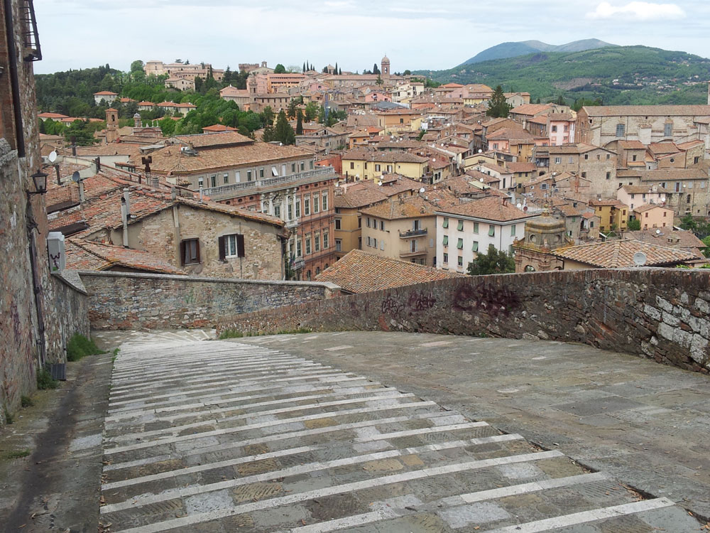 The town of Perugia - well worth a visit!